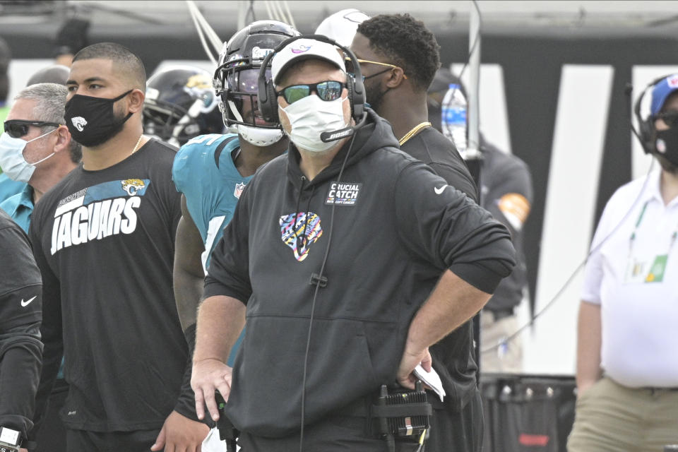 Doug Marrone was fired by the Jacksonville Jaguars after posting the NFL's worst record. (AP Photo/Phelan M. Ebenhack)