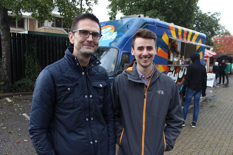 Cambridge workers Jason Cooper, left, and Owen Birch, right. Photo: Yahoo Finance UK
