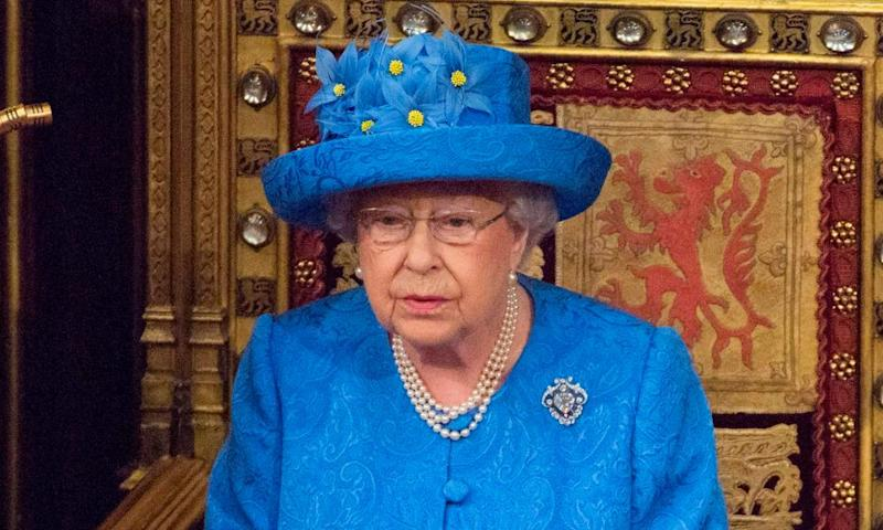 Britain's Queen Elizabeth II delivers the Queen's Speech