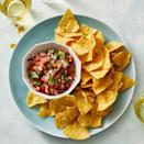 """<p>Why buy a jar when you can make it yourself? All you need are jalapeños, onion, lime juice, cilantro, and tomatoes. </p><p><em><a href=""""https://www.goodhousekeeping.com/food-recipes/a31004192/red-salsa-recipe/"""" rel=""""nofollow noopener"""" target=""""_blank"""" data-ylk=""""slk:Get the recipe for Red Salsa »"""" class=""""link rapid-noclick-resp"""">Get the recipe for Red Salsa »</a></em> </p>"""