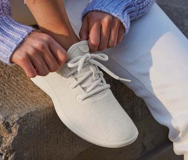 """Made with breathable wool to keep your feet cool, these sneakers are anything but basic. Plus, you can throw them in the washer — they'll look (and smell) as good as new, meaning you won't need to replace them. If you're usually a half size, Allbirds recommends you size up.<br /><br /><strong>Promising review:</strong>""""The most comfortable shoes I have ever worn. (And I have a lot of shoes!) My shoes (two pairs now) hug my feet and cradle them as I walk and run. Allbirds take the guesswork out of finding other athletic brands that may or may not fit comfortably, consistently. I love my Allbirds!"""" — Jessica S.<br /><br /><strong>Get them from Allbirds for<a href=""""https://go.skimresources.com?id=38395X987171&xs=1&url=https%3A%2F%2Fwww.allbirds.com%2Fproducts%2Fwomens-wool-runners-natural-white&xcust=HPSplurgeWorthy60771eb6e4b01654bb7978a0"""" target=""""_blank"""" rel=""""nofollow noopener noreferrer"""" data-skimlinks-tracking=""""5753950"""" data-vars-affiliate=""""ShareASale"""" data-vars-campaign=""""-SplurgeWorthyBasicsKass10-29-20-5753950"""" data-vars-href=""""https://shareasale.com/r.cfm?afftrack=-SplurgeWorthyBasicsKass10-29-20-5753950&b=999&m=68246&u=1615998&urllink=www.allbirds.com%2Fproducts%2Fwomens-wool-runners-natural-white"""" data-vars-keywords=""""cleaning"""" data-vars-link-id=""""0"""" data-vars-price="""""""" data-vars-redirecturl=""""www.allbirds.com/products/womens-wool-runners-natural-white"""" data-ml-dynamic=""""true"""" data-ml-dynamic-type=""""sl"""" data-orig-url=""""https://shareasale.com/r.cfm?afftrack=-SplurgeWorthyBasicsKass10-29-20-5753950&b=999&m=68246&u=1615998&urllink=www.allbirds.com%2Fproducts%2Fwomens-wool-runners-natural-white"""" data-ml-id=""""9"""">$95</a>(available in whole sizes 5-11 and in 17 colors).</strong>"""
