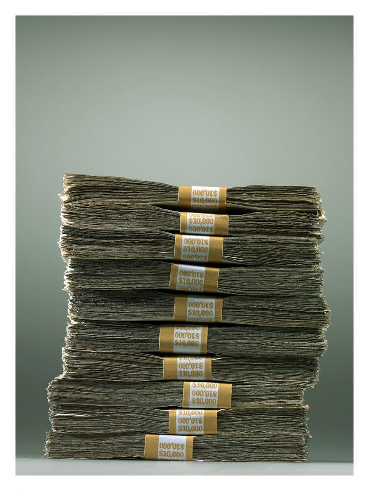 This stack of money won't necessarily be yours just because you're pretty