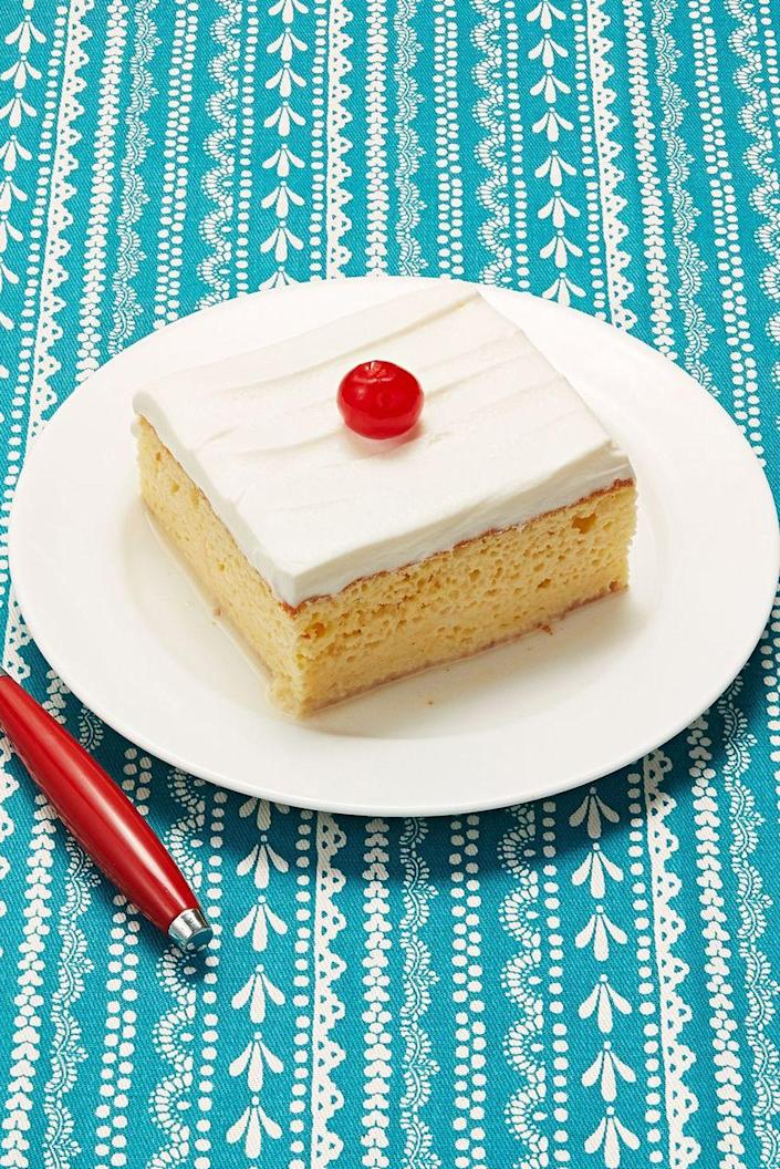 "<p>Tres leches is such a great cake for a special occasion. Mom will love how creamy and indulgent it is.</p><p><strong><a href=""https://www.thepioneerwoman.com/food-cooking/recipes/a8891/tres-leches-cake/"" rel=""nofollow noopener"" target=""_blank"" data-ylk=""slk:Get Ree's recipe."" class=""link rapid-noclick-resp"">Get Ree's recipe.</a></strong></p><p><a class=""link rapid-noclick-resp"" href=""https://go.redirectingat.com?id=74968X1596630&url=https%3A%2F%2Fwww.walmart.com%2Fsearch%2F%3Fquery%3Dmeasuring%2Bcups&sref=https%3A%2F%2Fwww.thepioneerwoman.com%2Ffood-cooking%2Fmeals-menus%2Fg36066375%2Fmothers-day-cakes%2F"" rel=""nofollow noopener"" target=""_blank"" data-ylk=""slk:SHOP MEASURING CUPS"">SHOP MEASURING CUPS</a></p>"
