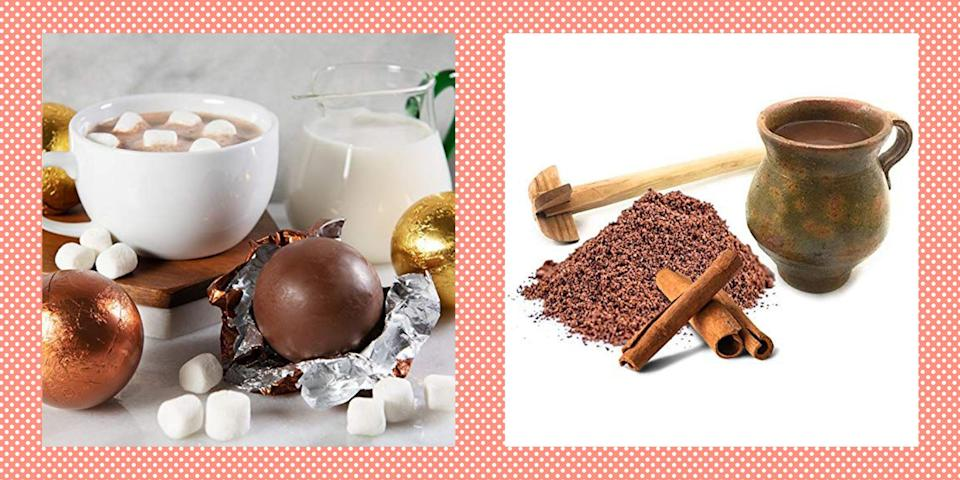 """<p>One of the best things about fall and winter is making a delicious cup of hot chocolate (topped with tons of marshmallows, of course). Ree Drummond loves whipping up <a href=""""https://www.thepioneerwoman.com/food-cooking/recipes/a10450/delicious-hot-chocolate/"""" rel=""""nofollow noopener"""" target=""""_blank"""" data-ylk=""""slk:homemade hot cocoa"""" class=""""link rapid-noclick-resp"""">homemade hot cocoa</a>, but that doesn't mean she doesn't appreciate a good hot chocolate mix, too. """"I love hot chocolate and really can't be trusted around it,"""" she says.</p><p>Using one of the best hot chocolate mixes means you can have a comforting cup of cocoa in just a few minutes, and there's an option out there no matter your taste. True chocolate lovers might go for a double chocolate mix—because double the chocolate, double the yum, right?! (If this sounds like you, you'll probably want to try your hand at making these <a href=""""https://www.thepioneerwoman.com/food-cooking/recipes/a34398478/hot-cocoa-pancakes/"""" rel=""""nofollow noopener"""" target=""""_blank"""" data-ylk=""""slk:hot cocoa pancakes"""" class=""""link rapid-noclick-resp"""">hot cocoa pancakes</a>, too.) Depending on your preference, you can also take your pick from milk chocolate, dark chocolate, and white chocolate mixes. If you're a brand loyalist, you should know that many of the major chocolate companies have their own hot chocolate mixes, including Godiva, Ghirardelli, Hershey's, and Cadbury.</p><p>Take a look at this mouthwatering roundup of the best hot chocolate mixes to add to your pantry immediately! And when you're ready to take things to the next level, here's a recipe for <a href=""""https://www.thepioneerwoman.com/food-cooking/recipes/a81118/how-to-make-hot-chocolate-mix/"""" rel=""""nofollow noopener"""" target=""""_blank"""" data-ylk=""""slk:homemade hot chocolate mix"""" class=""""link rapid-noclick-resp"""">homemade hot chocolate mix</a> (it makes a great <a href=""""https://www.thepioneerwoman.com/holidays-celebrations/gifts/a34656780/ree-drummond-holiday-gift-guide-2"""