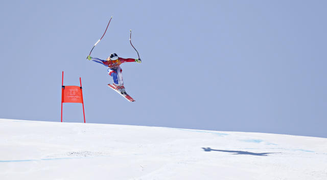<p>Maxence Muzaton of France in action during the Alpine Skiing Men's Combined at Jeongseon Alpine Centre on February 13, 2018 in Pyeongchang-gun, South Korea. (Photo by Alexis Boichard/Agence Zoom/Getty Images) </p>