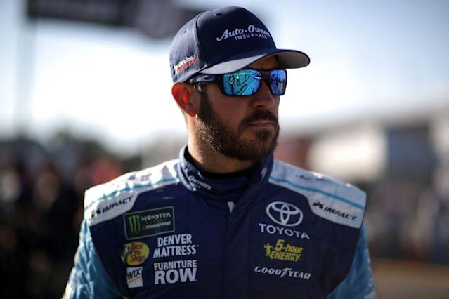 "Truex enters the playoffs with a commanding 20-point lead over No. 2 ranked <a class=""link rapid-noclick-resp"" href=""/nascar/sprint/drivers/3156/"" data-ylk=""slk:Kyle Larson"">Kyle Larson</a>. (Getty)"