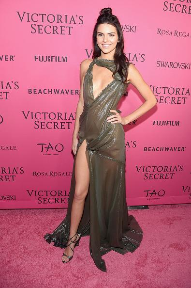 <p>Because the Victoria's Secret fun doesn't stop until the show airs on December 8, Kendall Jenner partied after her big debut wearing a dress from the VS of the couture world: Atelier Versace. </p>