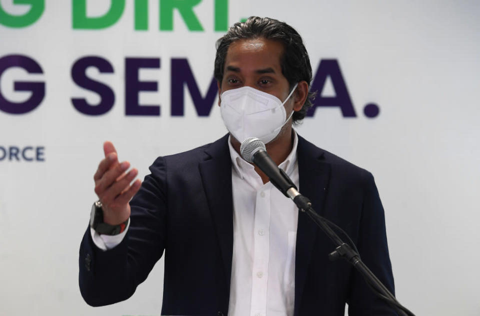 On those who are still being given appointments for vaccination at PPVs further from their homes, Khairy Jamaluddin said the easiest way to resolve the issue is by using the interactive help desk on the MySejahtera application, after which adjustments will be made. — Bernama pic
