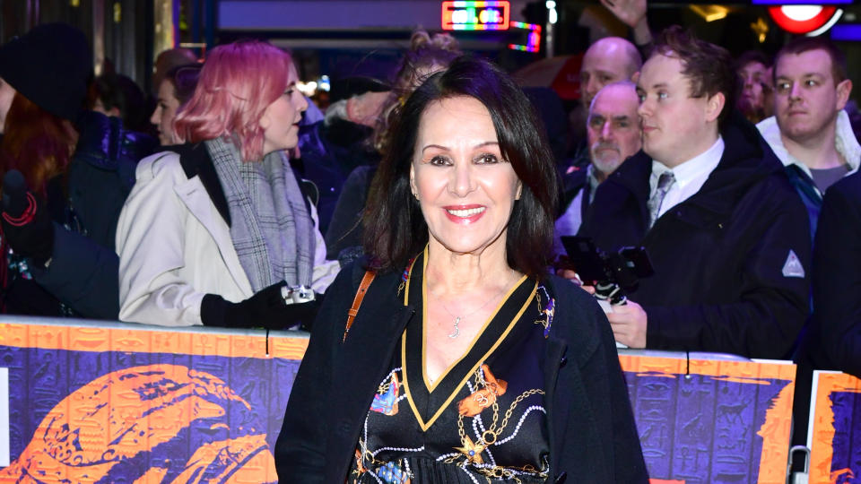 Arlene Phillips attending the first night of 'The Prince of Egypt' at London's Dominion Theatre in February 2020. (Photo by Ian West/PA Images via Getty Images)