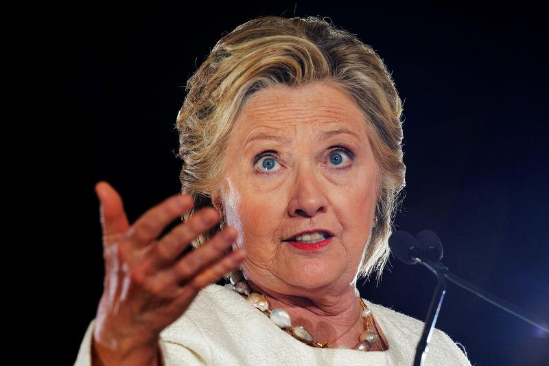 U.S. Democratic presidential nominee Hillary Clinton speaks at a campaign rally in Sanford