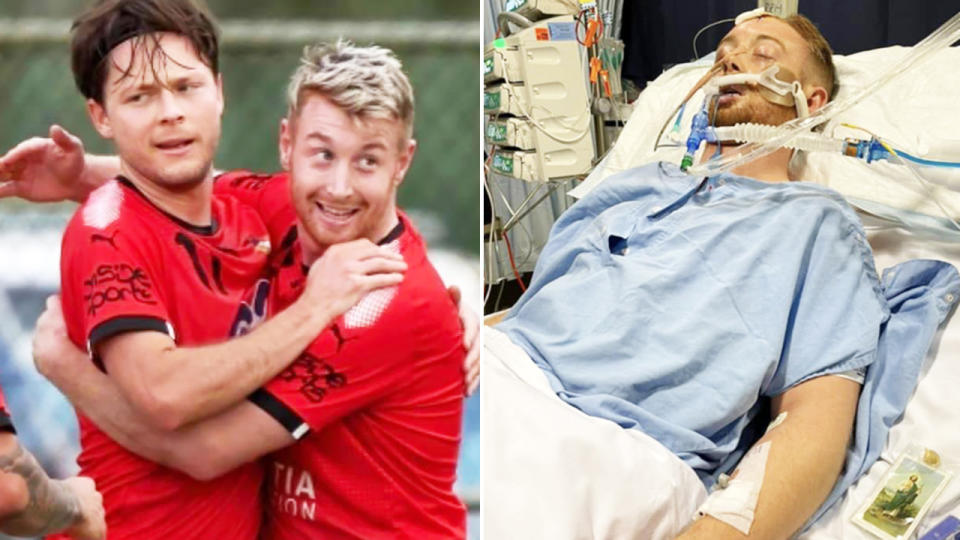 Danny Hodgson is fighting for his life after a vicious assault. Image: Twitter