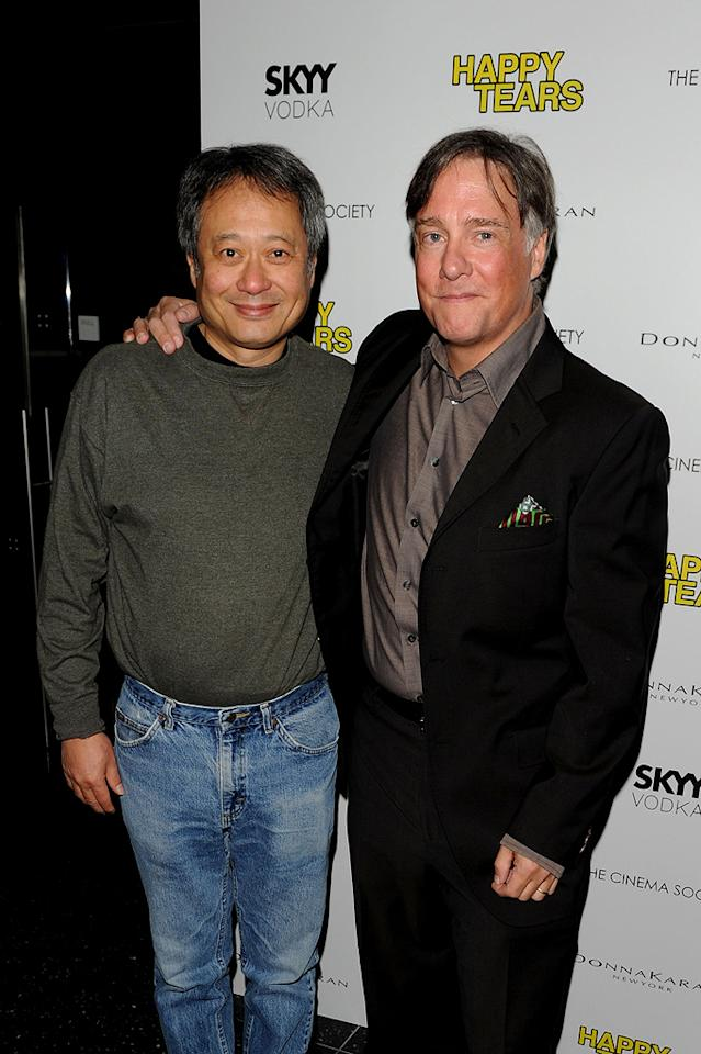 """<a href=""""http://movies.yahoo.com/movie/contributor/1800025608"""">Ang Lee</a> and <a href=""""http://movies.yahoo.com/movie/contributor/1800024167"""">Mitchell Lichtenstein</a> at the New York Cinema Society screening of <a href=""""http://movies.yahoo.com/movie/1810027690/info"""">Happy Tears</a> - 02/16/2010"""