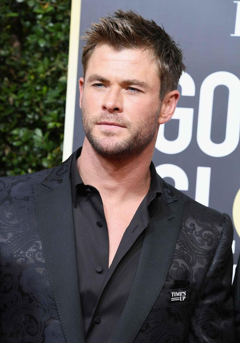 Chris Hemsworth wore all black and a