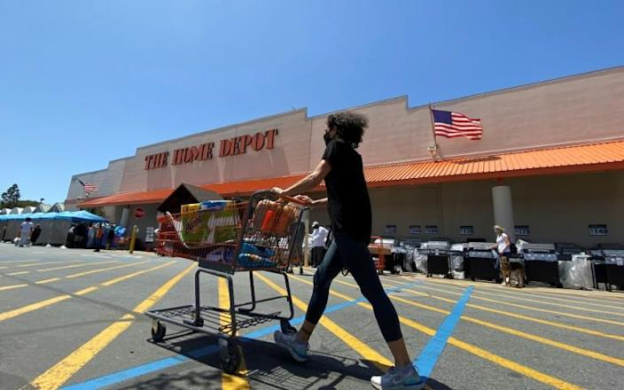 Home Depot got a sales boost from US stimulus payments, as Americans used the pandemic to take on home improvement and gardening projects