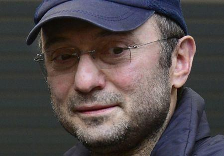 Dagestani born tycoon Kerimov watches a football match between Anzhi and Spartak in Moscow
