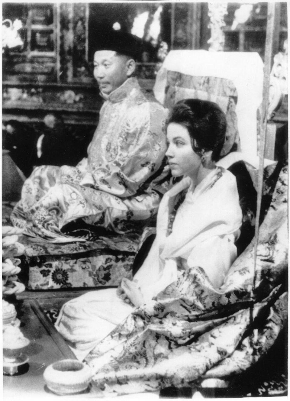 <p>Hope Cooke was a member of the aristocracy in Monaco and a student at Sarah Lawrence University studying Asian studies when she met the the recently widowed Crown Prince of Sikkim in Darjeeling, where she was taking a course in typing. The two were engaged two years later, and Queen Hope became the queen of Asia's smallest kingdom in the Himalayas.</p>
