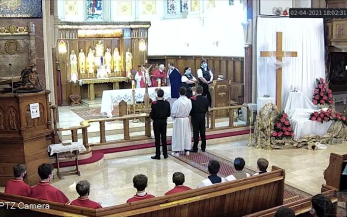Footage that emerged on social media shows two Metropolitan Police officers shutting down a Good Friday service at Christ the King Polish Roman Catholic Church in Balham, south London