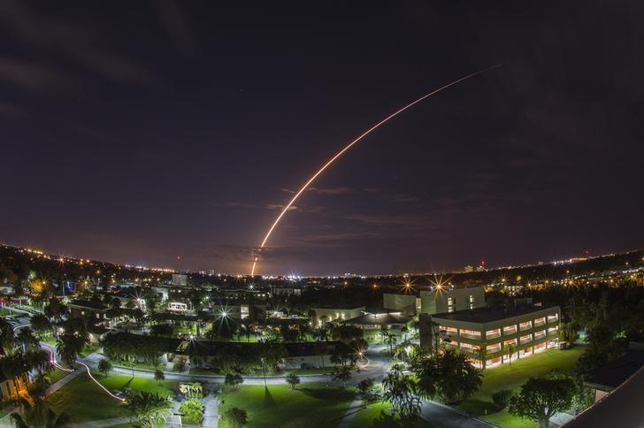 A United Launch Alliance Atlas V 551 rocket blasts off from Cape Canaveral Air Force Station in Florida