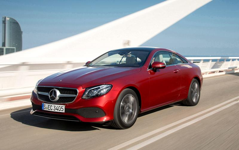 The Mercedes E-class Coupé - another four-star car - Mercedes-Benz Cars press photo, do not use for advertising purposes-