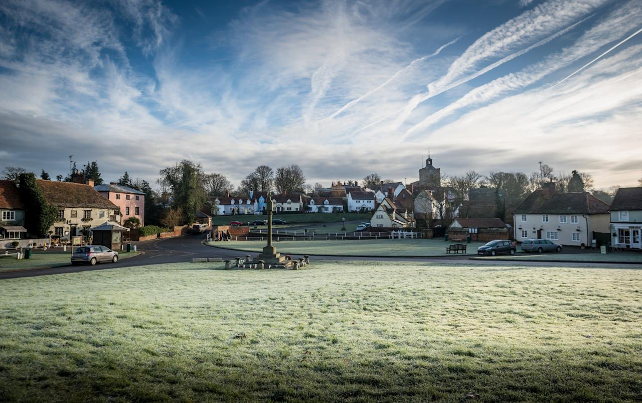 <p>A beautiful start to a chilly day in Finchingfield Village, Essex [Masons] </p>