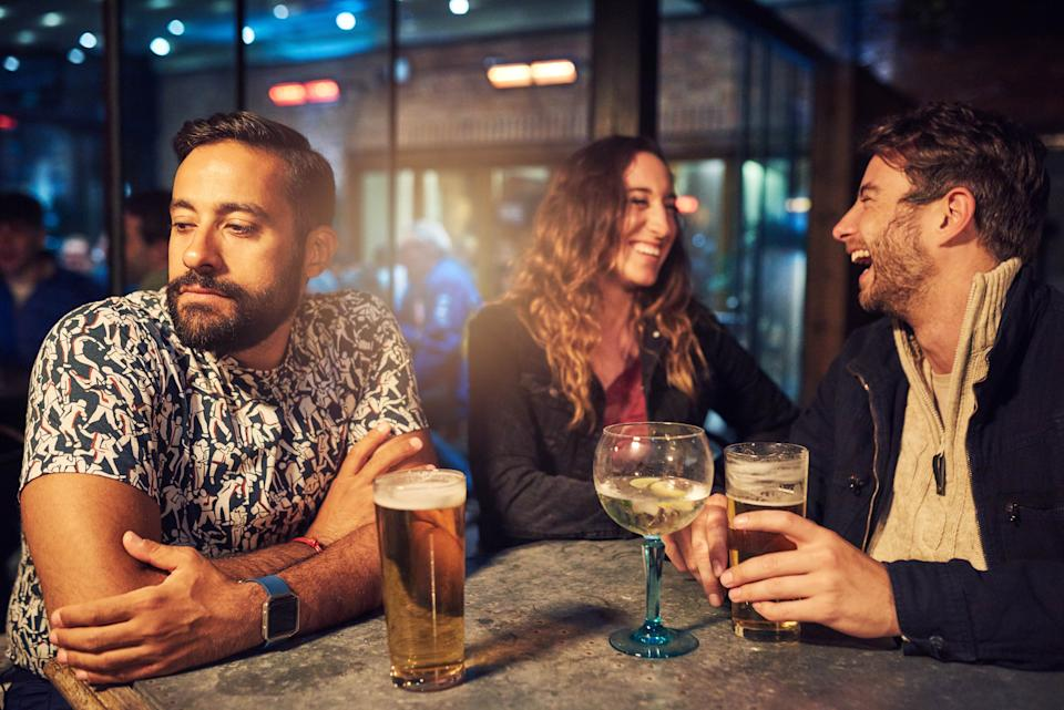 Some resort to pretending to be drinking for fear of being sober-shamed [Photo: Getty]