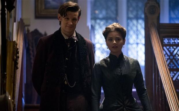 The Doctor and Clara talk on stairwell