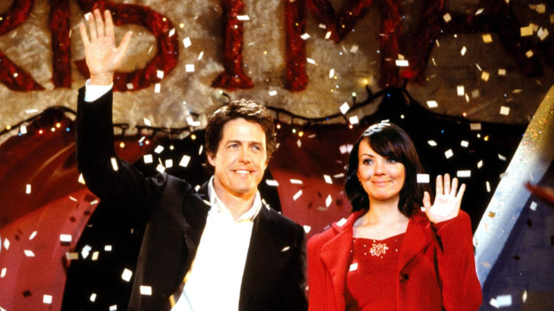 Hugh Grant and Martine McCutcheon in 'Love Actually'. (Credit: Universal)