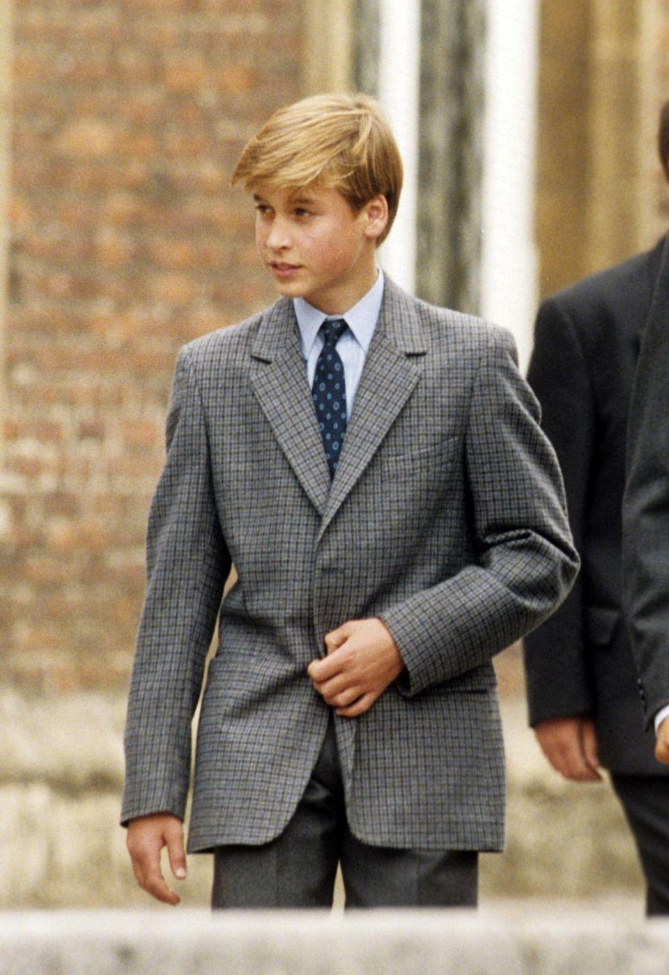 <p>Looking dapper on his first day at Eton College! (Which isn't an actual college, by the way. It's an extremely elite boarding school, natch.) </p>