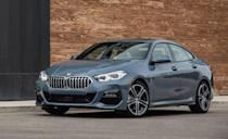 "<p>The <a href=""https://www.caranddriver.com/bmw/2-series-gran-coupe"" rel=""nofollow noopener"" target=""_blank"" data-ylk=""slk:BMW 2-Series Gran Coupe"" class=""link rapid-noclick-resp"">BMW 2-Series Gran Coupe</a> is now part of this list thanks to a new front-wheel drive powertrain which comes standard on the sedan. <a href=""https://www.caranddriver.com/news/a35089647/2021-bmw-2-series-gran-coupe-price/"" rel=""nofollow noopener"" target=""_blank"" data-ylk=""slk:This new option cuts the price"" class=""link rapid-noclick-resp"">This new option cuts the price</a> of the 2-Series Gran Coupe by $2000; nonetheless, both the front and all-wheel drive configurations come with the same turbocharged 2.0-liter four-cylinder with 228 horsepower. Despite sharing a name with the 2-series coupe and convertible, this four-door sedan shares a platform with Mini, a fact which often defines its driving character.</p><ul><li>Engine: 228-hp turbocharged 2.0-liter inline-four </li><li>Cargo space: 15 cubic feet </li></ul><p><a class=""link rapid-noclick-resp"" href=""https://www.caranddriver.com/bmw/2-series-gran-coupe/specs"" rel=""nofollow noopener"" target=""_blank"" data-ylk=""slk:MORE 2-SERIES GRAN COUPE SPECS"">MORE 2-SERIES GRAN COUPE SPECS</a></p>"