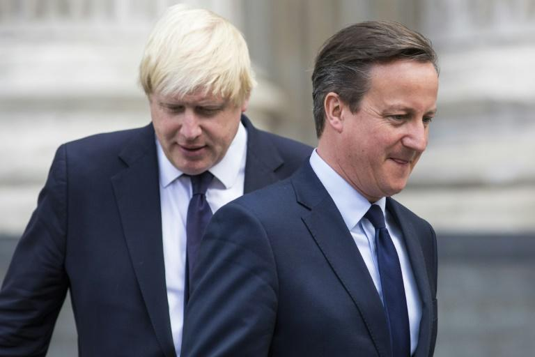 Former prime minister David Cameron, pictured in 2015 with then-London Mayor Boris Johnson, refused to apologise for calling the Brexit referendum