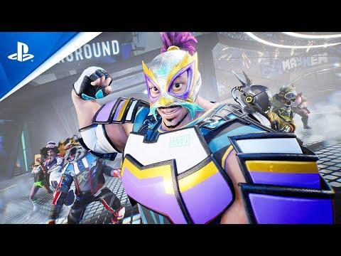 """<p><strong>PS5 Release Date: February 2021<br></strong><a class=""""link rapid-noclick-resp"""" href=""""https://www.amazon.com/Destruction-AllStars-PlayStation-5/dp/B08FC651C6?tag=syn-yahoo-20&ascsubtag=%5Bartid%7C10054.g.32711498%5Bsrc%7Cyahoo-us"""" rel=""""nofollow noopener"""" target=""""_blank"""" data-ylk=""""slk:Buy"""">Buy</a><br><br>One of the saddest delays, as we were extremely excited for this wild title, but with the delay came the great news that, much like <em>Fall Guys</em>, <em>Destruction AllStars </em>will be free to all PS Plus subscribers this February. This game is <em>Rocket League</em> meets <em>Windjammers</em> meets <em>Human: Fall Fla</em>t meets <em>Twisted Metal</em>. I can't begin to guess what the hell your goal is, but I can tell you that I am going to find out. There are cars crashing, people running around, and a million and one obstacles. It looks like pure chaos.</p><p><a href=""""https://youtu.be/nNO1k5NCDOk"""" rel=""""nofollow noopener"""" target=""""_blank"""" data-ylk=""""slk:See the original post on Youtube"""" class=""""link rapid-noclick-resp"""">See the original post on Youtube</a></p>"""