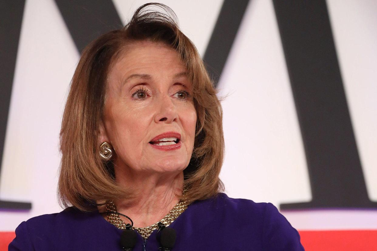 Nancy Pelosi participates in a panel discussion at the Time 100 Summit. (Photo: Brian Ach/Getty Images for Time)