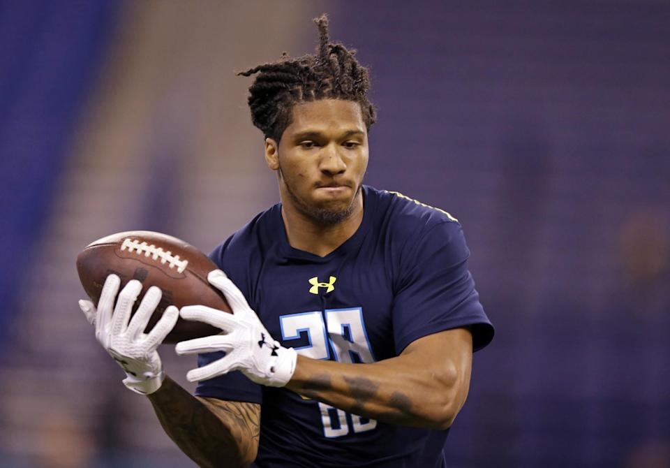 Washington CB Sidney Jones, one of the top corners in the 2017 NFL draft, appeared to suffer a torn Achilles on Saturday. (AP)