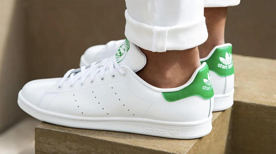 <p>You can't go wrong with these <span>Adidas Stan Smith Sneakers</span> ($80).</p>