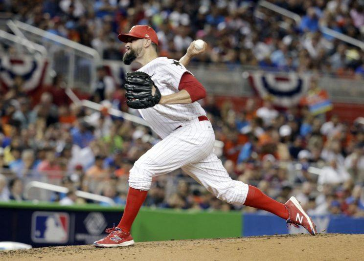 Pat Neshek is a free agent after this season but could be a valuable rental. (AP)
