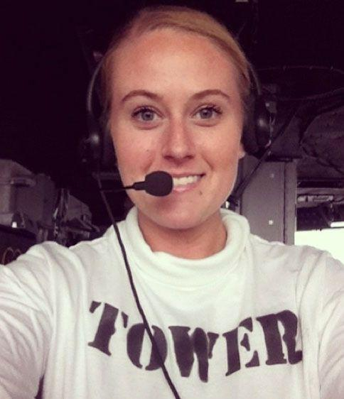 Flying a fallen sailor: Brooke Newton was taken home to her family. Source: KOCO News