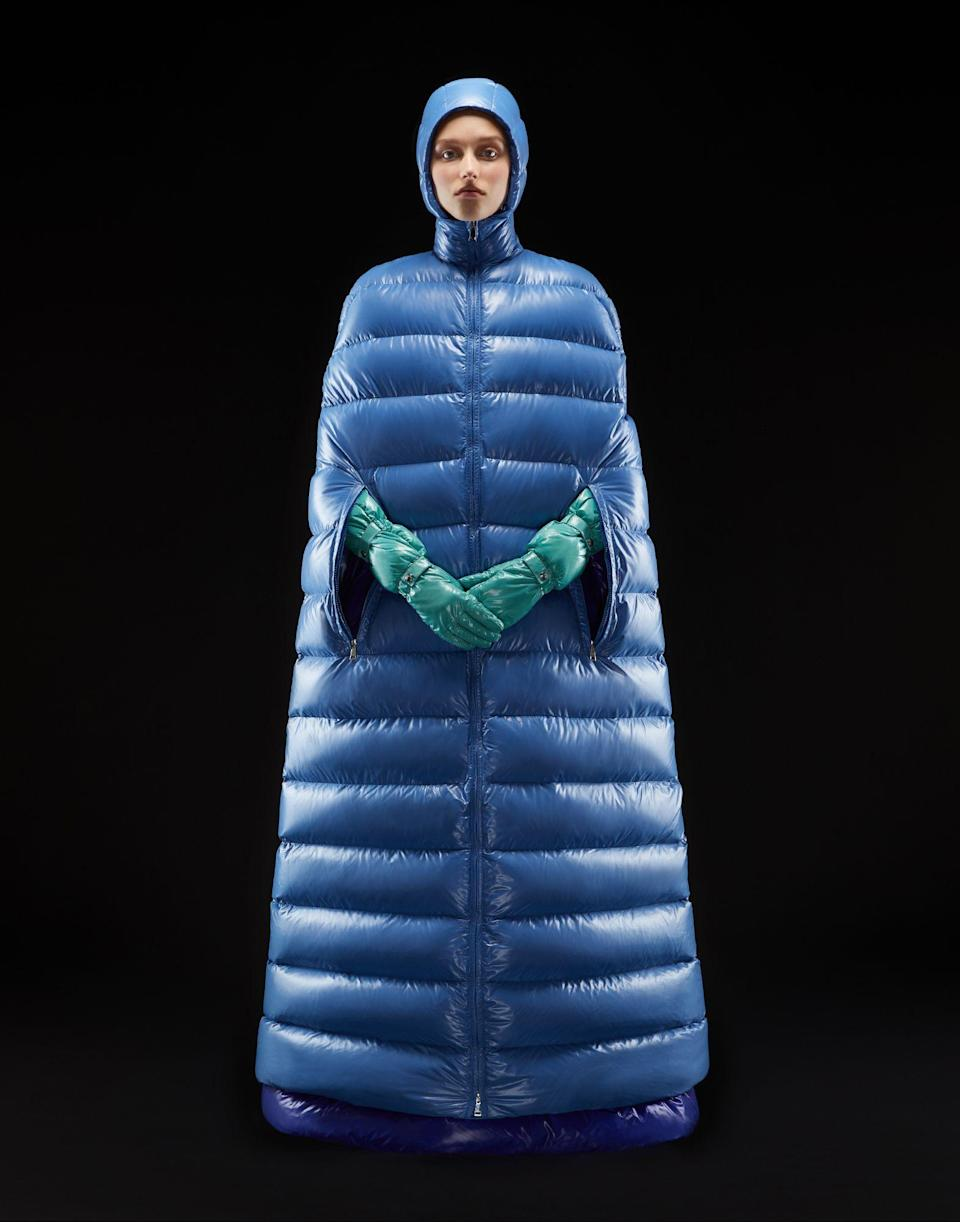Moncler is also selling a puffer cape dress for an eye-watering £2,415 [Photo: Moncler]
