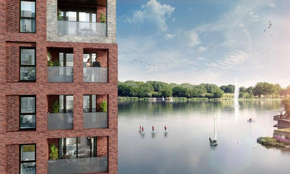 Peabody have envisaged a marina lifestyle for the new lakeside community (handout)