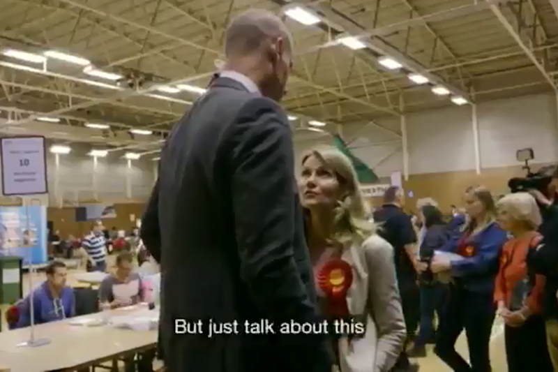 Millions of TV viewers saw how Labour MP Stephen Kinnock was stopped by wife Helle Thorning-Schmidt from making a gaffe on election night. (BBC)