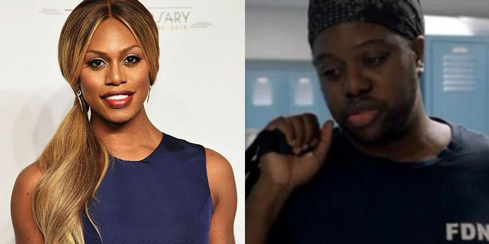 """<p>Laverne Cox's twin brother, M Lamar, works as an artist and composer in New York City. He made an appearance on <em>Orange Is the New Black</em>, portraying Laverne's character in her pre-transition period for <a href=""""https://www.cosmopolitan.co.za/inthemag/5-things-you-didnt-know-about-laverne-cox/"""" rel=""""nofollow noopener"""" target=""""_blank"""" data-ylk=""""slk:two episodes"""" class=""""link rapid-noclick-resp"""">two episodes</a>.</p>"""