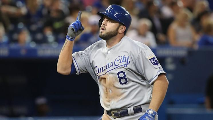 Would free agent third baseman Mike Moustakas benefit from waiting to sign after the MLB Draft? His agent, Scott Boras, seems to think so. (AP)