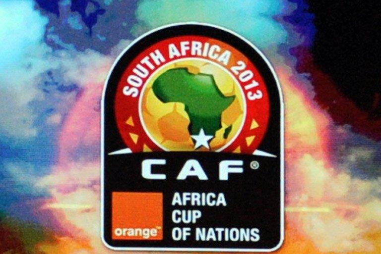 View of the logo of the Africa Cup of Nations 2013 in Durban on October 24, 2012