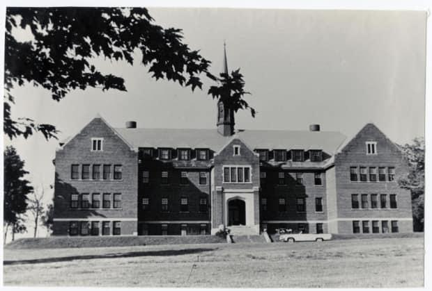 The Shingwauk Indian Residential School, shown around 1965, in Sault Ste. Marie, Ont. Dozens of people, including 72 students, are said to be buried on the grounds. (Shingwauk Residential Schools Centre, Algoma University - image credit)