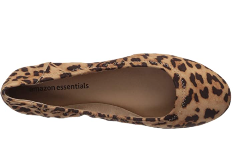 Amazon Essentials Women's Ballet Flat in Faux Leopard (Photo via Amazon)