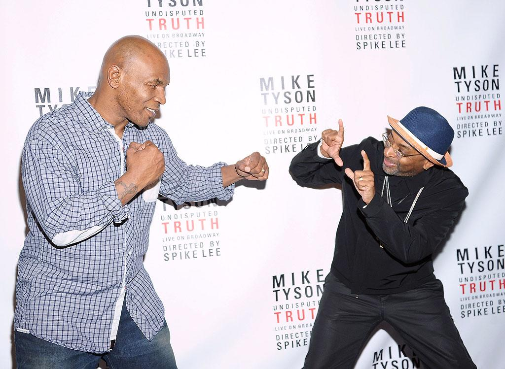 "Mike Tyson and Spike Lee looked ready to battle Broadway on the opening night of the boxer's one-man show, ""Mike Tyson: Undisputed Truth"" (which Lee directed), at Manhattan's Longacre Theatre on Thursday night. According to early reviews, the show wasn't exactly a knockout. (8/2/2012)"