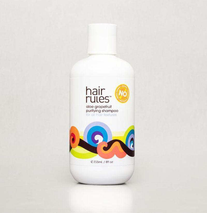 """<p><strong>Hair Rules</strong></p><p>hairrules.com</p><p><strong>$22.99</strong></p><p><a href=""""https://hairrules.com/products/aloe-grapefruit-shampoo/"""" rel=""""nofollow noopener"""" target=""""_blank"""" data-ylk=""""slk:Buy"""" class=""""link rapid-noclick-resp"""">Buy</a></p><p>Hair Rules' purifying, non-stripping shampoo helps to remove product buildup and all the other residue that accumulates on your scalp throughout the day, leaving your locks feeling soothed and looking refreshed. </p>"""