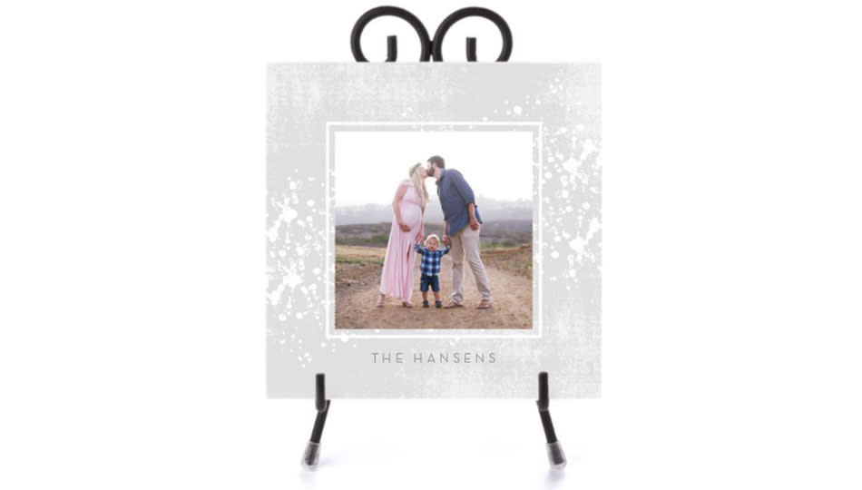 Save 25 percent on this personalized display. (Photo: Shutterfly)
