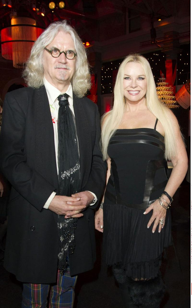 "Billy Connolly revealed he is ""really dependent"" on his wife Pamela - Credit:  Silverhub/REX/Shutterstock/Rex"