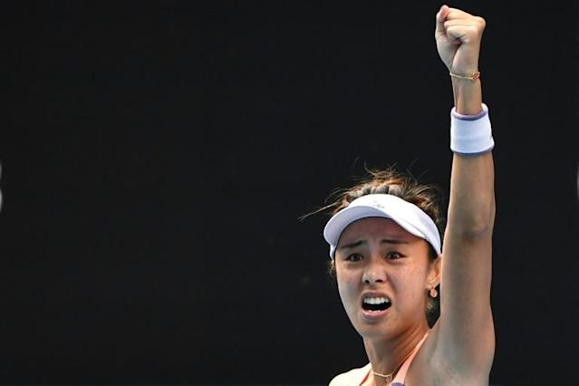 China's Wang Qiang beat Serena Williams for the first time (AFP Photo/William WEST)