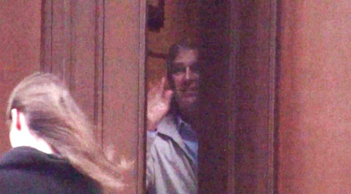 Prince Andrew photographed from inside Epstein's New York mansion - Mail on Sunday